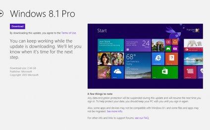 Нет обновления Windows 8.1 в